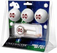 Mississippi State Bulldogs Golf Ball Gift Pack with Cap Tool