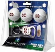 Mississippi State Bulldogs Golf Ball Gift Pack with Key Chain