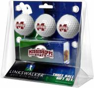 Mississippi State Bulldogs Golf Ball Gift Pack with Slider Clip