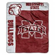 Mississippi State Bulldogs Jersey Mesh Raschel Throw Blanket