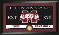 Mississippi State Bulldogs Man Cave Bronze Coin Panoramic Photo Mint