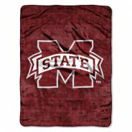 Mississippi State Bulldogs Micro Grunge Blanket