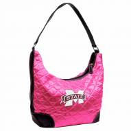 Mississippi State Bulldogs Pink NCAA Quilted Hobo Handbag