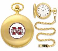 Mississippi State Bulldogs Pocket Watch - Gold