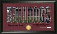 Mississippi State Bulldogs Silhouette Bronze Coin Panoramic Photo Mint