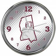 Mississippi State Bulldogs State of Mind Chrome Clock