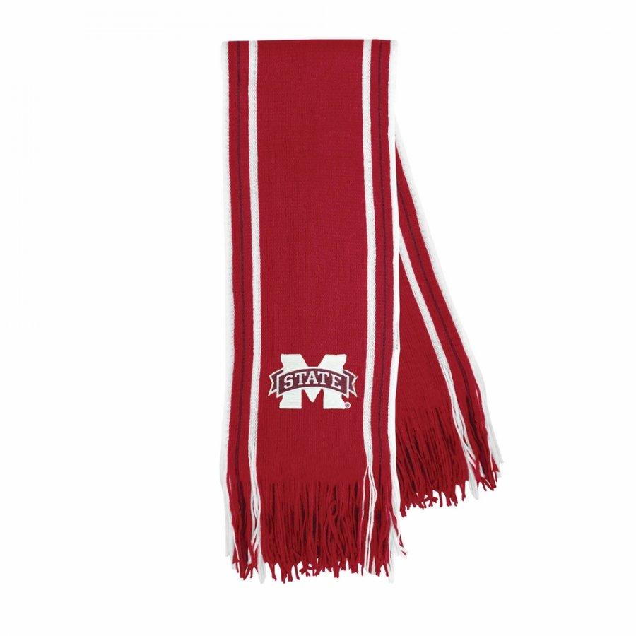 Mississippi State Bulldogs Stripe Fringe Scarf