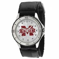 Mississippi State Bulldogs Veteran Velcro Mens Watch