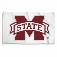 Mississippi State Bulldogs White 3' x 5' Flag