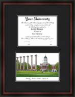 University of Missouri Columbia Diplomate Framed Lithograph with Diploma Opening