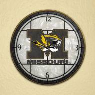 Missouri Mizzou Tigers NCAA Stained Glass Wall Clock