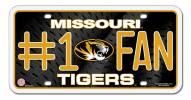 Missouri Tigers #1 Fan License Plate