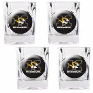 Missouri Tigers 4 Piece Square Shot Glasses