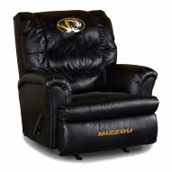 Missouri Tigers Big Daddy Leather Recliner