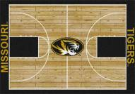 Missouri Tigers College Home Court Area Rug