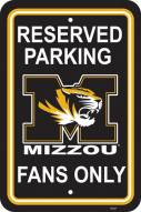 Missouri Tigers College Parking Sign