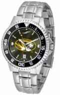 Missouri Tigers Competitor Steel AnoChrome Color Bezel Men's Watch