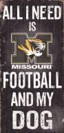 Missouri Tigers Football & Dog Wood Sign