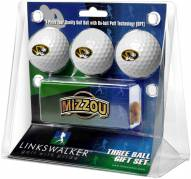 Missouri Tigers Golf Ball Gift Pack with Slider Clip