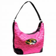 Missouri Tigers Pink NCAA Quilted Hobo Handbag