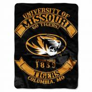 Missouri Tigers Rebel Raschel Throw Blanket