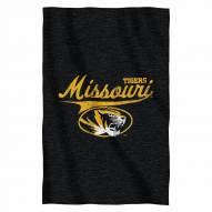 Missouri Tigers Script Sweatshirt Throw Blanket