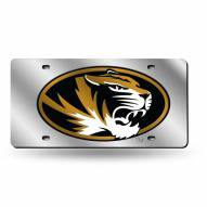 Missouri Tigers Silver Laser License Plate