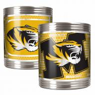 Missouri Tigers Stainless Steel Hi-Def Coozie Set
