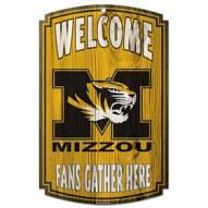 Missouri Tigers Wood Sign