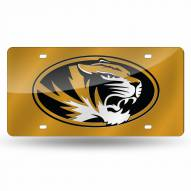 Missouri Tigers Yellow Laser Cut License Plate