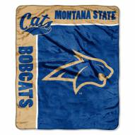 Montana State Bobcats School Spirit Raschel Throw Blanket