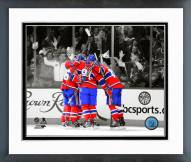 Montreal Canadiens Goal Celebration 2014 Spotlight Framed Photo