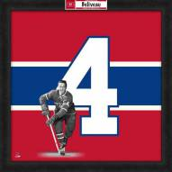 Montreal Canadiens Jean Beliveau Uniframe Framed Jersey Photo