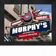 Montreal Canadiens Personalized Framed Sports Pub Print
