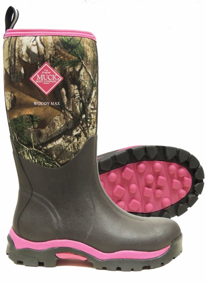 Muck Boot Women&39s Woody Max Pink Realtree Hunnting Boots
