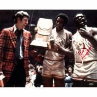 """Bob Knight w/ Trophy Signed 16"""" x 20"""" Photo"""