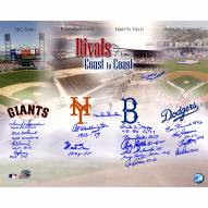 "Dodgers-Giants Rivalry (18 Signatures) Signed 16"" x 20"" Photo"
