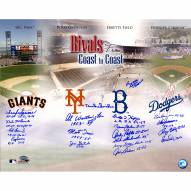 "Dodgers-Giants Rivalry (19 Signatures) Signed 16"" x 20"" Photo"