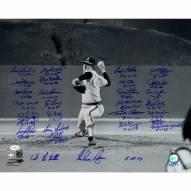 "No Hitter Pitchers Nolan Ryan 1st No Hitter (27 Signatures) Signed 16"" x 20"" Photo"