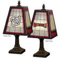 Washington Nationals MLB Hand-Painted Art Glass Table Lamp
