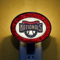 Washington Nationals MLB Stained Glass Night Light