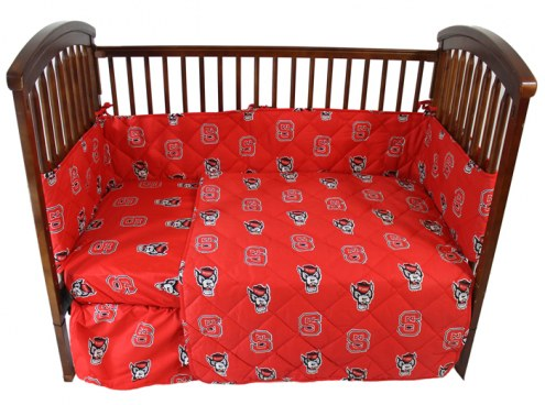 North Carolina State Wolfpack Ncaa Baby Crib Set