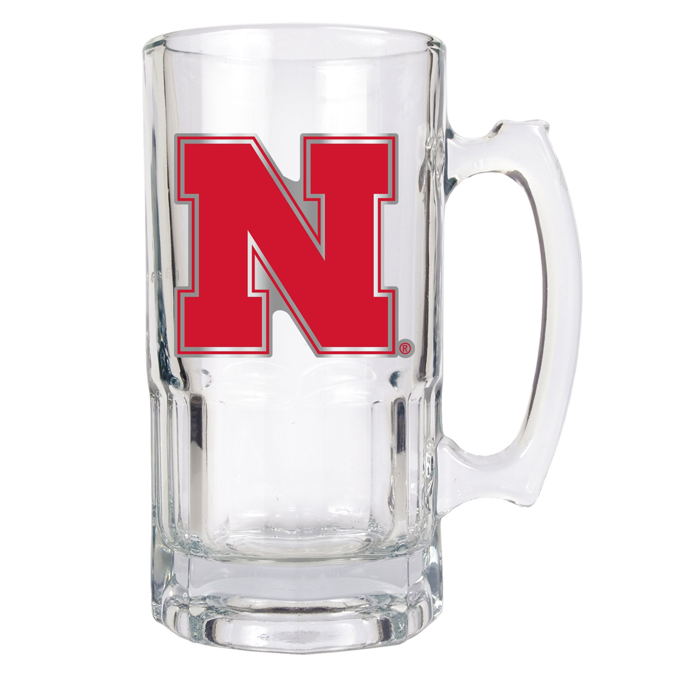 nebraska cornhuskers college 1 liter glass macho mug. Black Bedroom Furniture Sets. Home Design Ideas