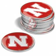 Nebraska Cornhuskers 12-Pack Golf Ball Markers
