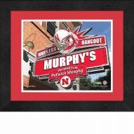 Nebraska Cornhuskers 13 x 16 Personalized Framed Sports Pub Print