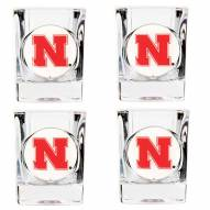 Nebraska Cornhuskers 4 Piece Square Shot Glasses