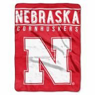 Nebraska Cornhuskers Basic Raschel Blanket