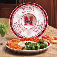 Nebraska Cornhuskers Ceramic Chip and Dip Serving Dish