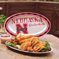 Nebraska Cornhuskers Ceramic Serving Platter