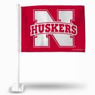 Nebraska Cornhuskers College Car Flag
